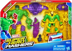 Marvel Super Hero Mashers Action Figure 2-Pack Hulk Vs Loki New!