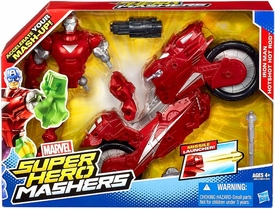 Marvel Super Hero Mashers Action Figure 2-Pack Iron Man Hotshot Hot Rod New!