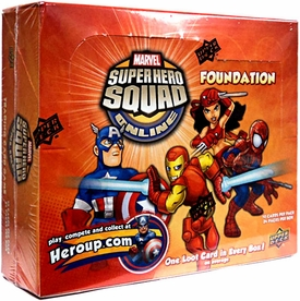 Marvel Superhero Squad Online Trading Card Game Foundation Booster BOX [24 Packs]