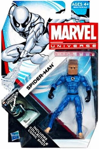 Marvel Universe 3 3/4 Inch Series 19 Action Figure #14 Spider-Man [Shattered Dimension Fantastic Four Uniform & Bag On Head]