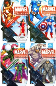 Marvel Universe 3 3/4 Inch Series 22 Set of 4 Action Figures [Mysterio, Elektra, Rhino & Captain America]