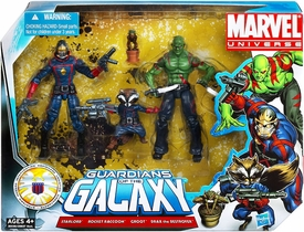 Marvel Universe 3.75 Inch Action Figure 3-Pack Guardians of the Galaxy [Starlord, Rocket Raccoon & Drax with Groot]