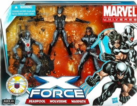 Marvel Universe 3.75 Inch Action Figure 3-Pack X-Force [Deadpool, Warpath & Wolverine]
