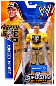 Mattel WWE Wrestling 2014 Exclusive Superstar Entrances Action Figure John Cena [Yellow Never Give Up T Shirt]