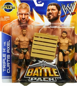 Mattel WWE Wrestling Basic Series 26 Action Figure 2-Pack Curtis Axel & Triple H [Pallet!]