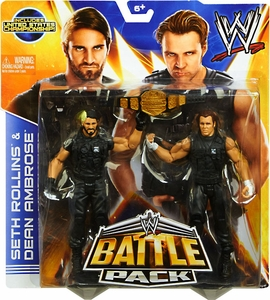 Mattel WWE Wrestling Basic Series 26 Action Figure 2-Pack Seth Rollins & Dean Ambrose {The Shield} [United States Championship Belt!]