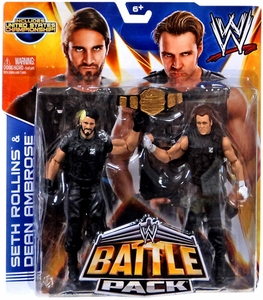 Mattel WWE Wrestling Basic Series 26 Action Figure 2-Pack Seth Rollins & Dean Ambrose {The Shield!} Hot!