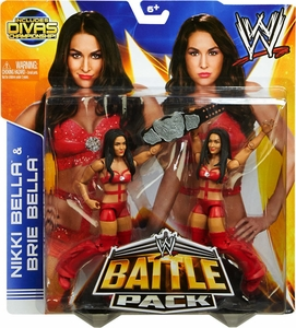 Mattel WWE Wrestling Basic Series 26 Action Figure 2-Pack Nikki & Brie Bella {Bella Twins} [Divas Championship Belt!]