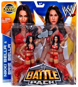 Mattel WWE Wrestling Basic Series 26 Action Figure 2-Pack Nikki & Brie Bella {Bella Twins} [Divas Championship Belt!] Pre-Order ships May