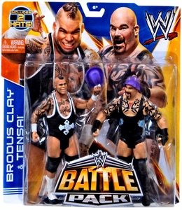 Mattel WWE Wrestling Basic Series 27 Action Figure 2-Pack Brodus Clay & Tensai
