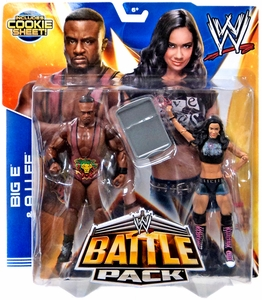 Mattel WWE Wrestling Basic Series 28 Action Figure 2-Pack AJ Lee & Big E Langston [2 Tag Belts!] New!