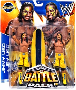 Mattel WWE Wrestling Basic Series 28 Action Figure 2-Pack Jimmy Uso & Jey Uso [Surfboard!] New Hot!