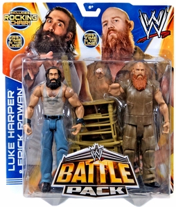 Mattel WWE Wrestling Basic Series 28 Action Figure 2-Pack Luke Harper & Erick Rowan {Wyatt Family} [Rocking Chair!] New Hot!