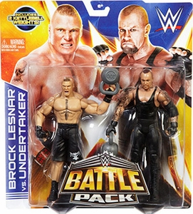 Mattel WWE Wrestling Basic Series 30 Action Figure 2-Pack Brock Lesnar & Undertaker Pre-Order ships November