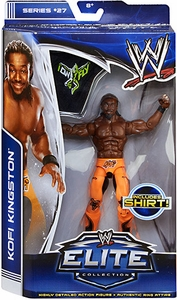 Mattel WWE Wrestling Elite Series 27 Action Figure Kofi Kingston [Shirt!]