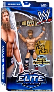 Mattel WWE Wrestling Elite Series 28 Action Figure Daniel Bryan [WWE Championship & Fan Sign!] New!
