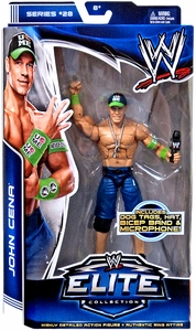 Mattel WWE Wrestling Elite Series 28 Action Figure John Cena [Dog tags, Hat, Bicep Band & Microphone!] New!