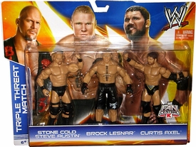 Mattel WWE Wrestling Exclusive Action Figure 3-Pack Stone Cold Steve Austin, Brock Lesnar & Curtis Axel [Triple Threat Match]