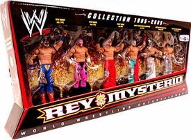 Mattel WWE Wrestling Exclusive Action Figure 6-Pack Rey Mysterio Collection 1995-2005
