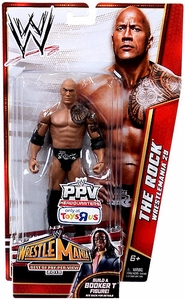 Mattel WWE Wrestling Exclusive Best of Pay-Per-View 2013 Wrestlemania 29 Basic Action Figure The Rock [Build Booker T]