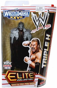Mattel WWE Wrestling Exclusive Elite Wrestlemania 27 Best of Pay Per View Action Figure Triple H [Build Michael Cole!]
