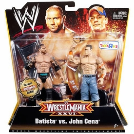 Mattel WWE Wrestling Exclusive WrestleMania 26 Action Figure 2-Pack Batista & John Cena