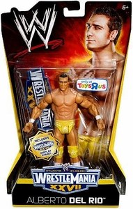 Mattel WWE Wrestling Exclusive WrestleMania 27 Action Figure Alberto Del Rio BLOWOUT SALE!