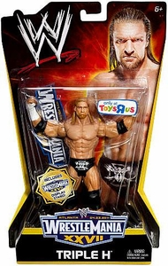 Mattel WWE Wrestling Exclusive WrestleMania 27 Action Figure Triple H BLOWOUT SALE!