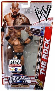 Mattel WWE Wrestling Exclusive WrestleMania 28 Action Figure Rock [Build Announcer's Table!]