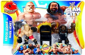 Mattel WWE Wrestling Slam City Action Figure 2-Pack Brock Lesnar Vs Mark Henry