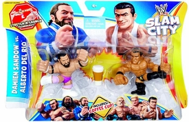 Mattel WWE Wrestling Slam City Action Figure 2-Pack Damien Sandow Vs Alberto Del Rio