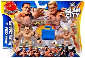 Mattel WWE Wrestling Slam City Action Figure 2-Pack John Cena & Dolph Ziggler