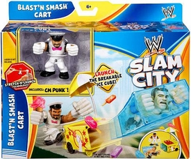 Mattel WWE Wrestling Slam City Playset Blast'N Smash Cart [CM Punk]