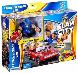 Mattel WWE Wrestling Slam City Playset Launch'N Crash Car [John Cena]