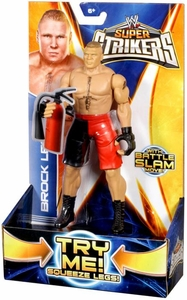 Mattel WWE Wrestling Super Strikers Action Figure Brock Lesnar [Fire Extinguisher is Cardboard, Not Plastic!]