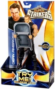 Mattel WWE Wrestling Super Strikers Action Figure Dean Ambrose [Chair is Cardboard, Not Plastic!]
