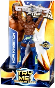 Mattel WWE Wrestling Super Strikers Action Figure Kofi Kingston [Belt is Cardboard, Not Plastic!]