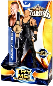 Mattel WWE Wrestling Super Strikers Action Figure Undertaker [Belt is Cardboard, Not Plastic!]