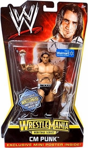 Mattel WWE Wrestling WrestleMania Heritage Exclusive Series 2 Action Figure CM Punk [Exclusive Mini Poster] BLOWOUT SALE!