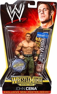 Mattel WWE Wrestling WrestleMania Heritage Exclusive Series 2 Action Figure John Cena [Exclusive Mini Poster] BLOWOUT SALE!