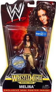 Mattel WWE Wrestling WrestleMania Heritage Exclusive Series 2 Action Figure Melina [Exclusive Mini Poster]