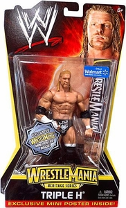 Mattel WWE Wrestling WrestleMania Heritage Exclusive Series 2 Action Figure Triple H [Exclusive Mini Poster] BLOWOUT SALE!
