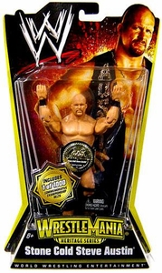 Mattel WWE Wrestling WrestleMania Heritage Series 1 Action Figure Stone Cold Steve Austin [Commemorative Championship Belt] Only 1,000 Made!