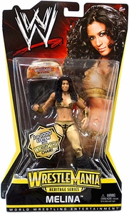 Mattel WWE Wrestling WrestleMania Heritage Series 2 Action Figure Melina [1 of 1000 with Wrestlemania Chair]