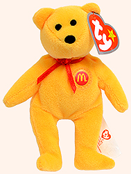 McDonalds 2004 Ty Teenie Beenie Golden Arches the Bear