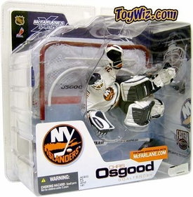 McFarlane NHL Sports Picks Series 3 Action Figure Chris Osgood (New York Islanders) White Jersey Damaged Package, Mint Contents!