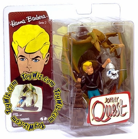 McFarlane Toys Hanna Barbera Series 2 Action Figure Johnny Quest with Bandit Dog Damaged package, Mint Contents!