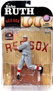 McFarlane Toys MLB Cooperstown Series 6 Action Figure Babe Ruth (Boston Red Sox) Gray Uniform