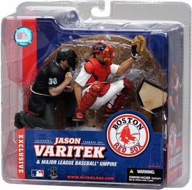 McFarlane Toys MLB Sports Picks Exclusive Action Figure 2-Pack Jason Varitek & Homeplate Umpire