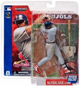 McFarlane Toys MLB Sports Picks Series 1 Action Figure Albert Pujols (St. Louis Cardinals) Gray Jersey Damaged Package, Mint Contents!